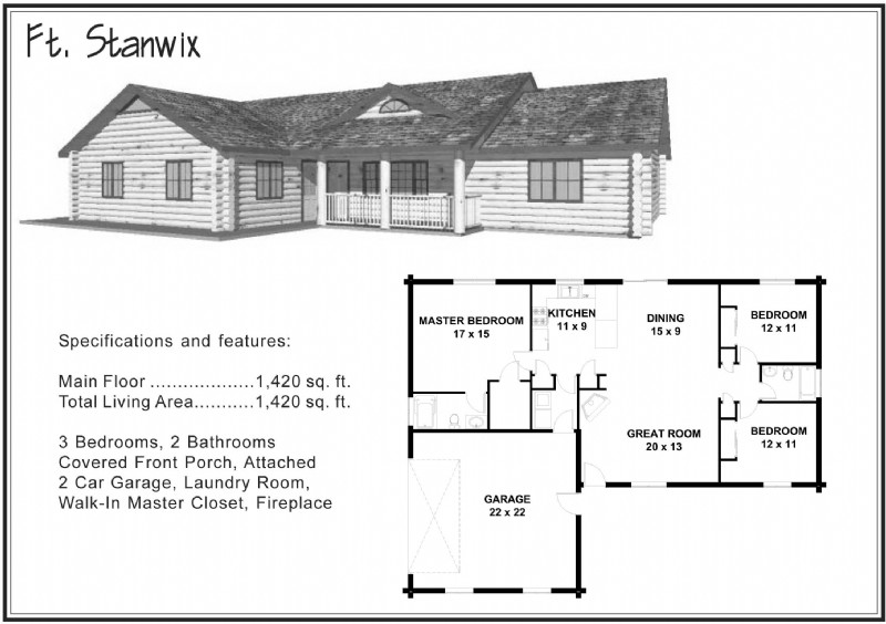 1 500 Sq Ft And Under Alpine Blue Log Homes