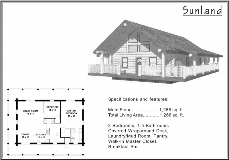 1,500 Sq Ft and Under « Alpine Blue Log Homes