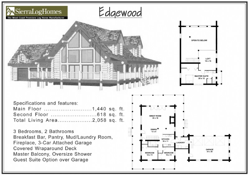 2 000 to 2 500 sq ft alpine blue log homes for 2000 sq ft log home plans