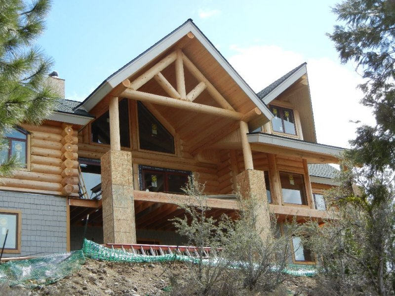 New home construction gallery alpine blue log homes for New log homes